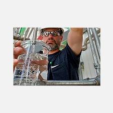 Corn ethanol processing plant Rectangle Magnet