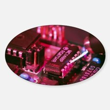 Computer circuit board being electr Sticker (Oval)