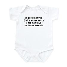 Thinking of Zebra Finches Infant Bodysuit