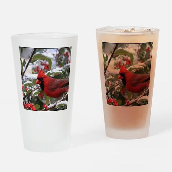 Christmas Cardinal Drinking Glass