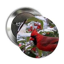 "Christmas Cardinal 2.25"" Button"