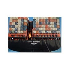 Container ship Rectangle Magnet