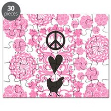 Peace, Love And Chickens Puzzle