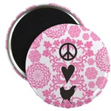 Peace, Love And Chickens Magnet