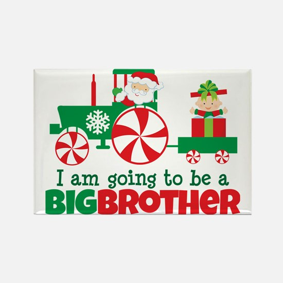 Santa Tractor Big Brother To Be Rectangle Magnet