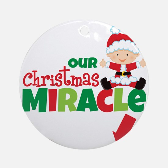 Our Christmas Miracle Round Ornament
