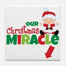 Our Christmas Miracle Tile Coaster