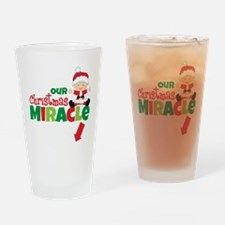 Our Christmas Miracle Drinking Glass