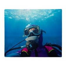 Diver communication system Throw Blanket