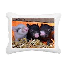 3 Little Pigs Rectangular Canvas Pillow