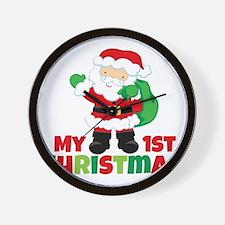 Santa Babies 1st Christmas Wall Clock