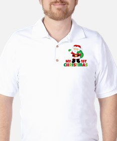 Santa Babies 1st Christmas Golf Shirt