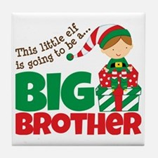 Elf going to be a Big Brother Tile Coaster