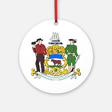 COA of Delaware Round Ornament