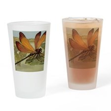 Dragonfly Painting Drinking Glass