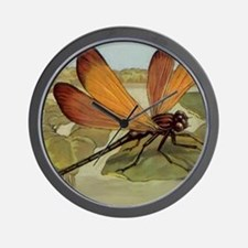 Dragonfly Painting Wall Clock