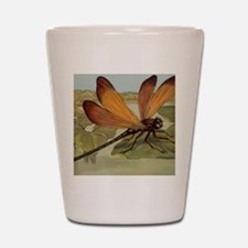 Dragonfly Painting Shot Glass