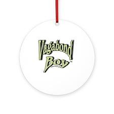 Vagabond Boy Logo Round Ornament