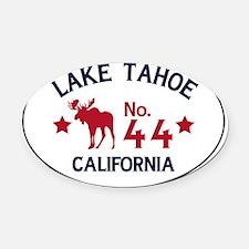 Lake Tahoe Moose Badge Oval Car Magnet