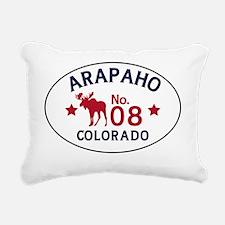 Arapaho Moose Badge Rectangular Canvas Pillow