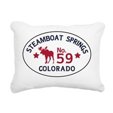 Steamboat Springs Moose  Rectangular Canvas Pillow