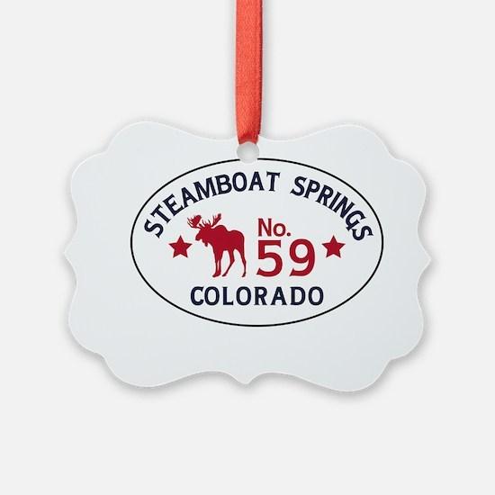 Steamboat Springs Moose Badge Ornament