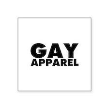 "Gay Apparel Square Sticker 3"" x 3"""