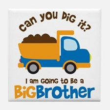 Dump truck Big Brother To Be Tile Coaster
