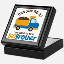 Dump truck Big Brother To Be Keepsake Box
