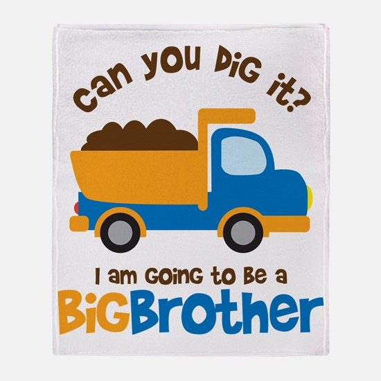 Dump truck Big Brother To Be Throw Blanket