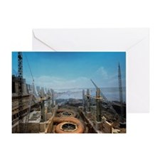 Dnieper hydroelectric plant construc Greeting Card
