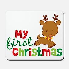 Reindeer Babies 1st Christmas Mousepad
