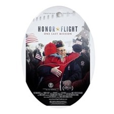 Honor Flight Movie Poster Oval Ornament