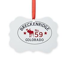 Breckenridge Moose Badge Ornament