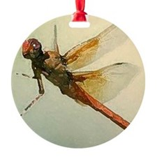 Watercolor Dragonfly Ornament
