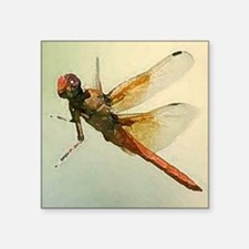 """Watercolor Dragonfly Square Sticker 3"""" x 3"""""""