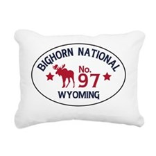 Bighorn Moose Badge Rectangular Canvas Pillow