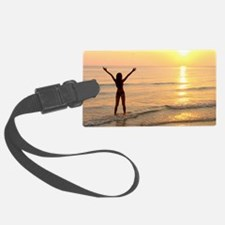 Woman standing in the sea Luggage Tag