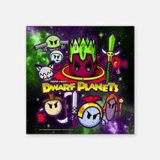 "DWARF PLANETS - Square Sticker 3"" x 3"""