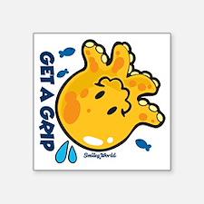 "Get a Grip Square Sticker 3"" x 3"""