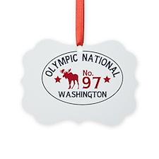 Olympic Moose Badge Ornament