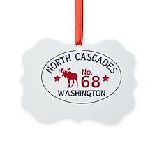 North Cascades Moose Badge Ornament