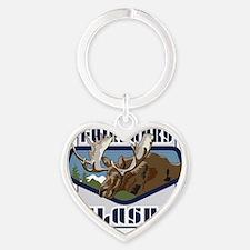 Fairbanks Mountaintop Moose Heart Keychain