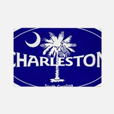 Charleston South Carolina Clear Rectangle Magnet