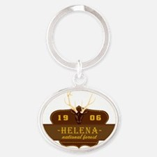 Helena National Park Crest Oval Keychain