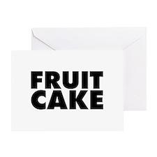 Fruitcake Greeting Card