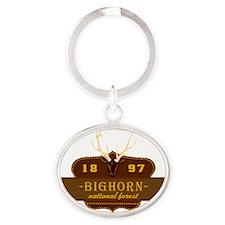 Bighorn National Park Crest Oval Keychain