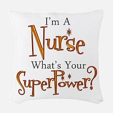 super nurse Woven Throw Pillow