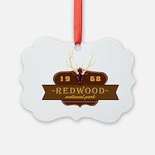 Redwood National Park Crest Ornament