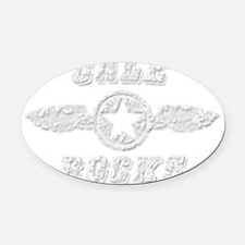 CALE ROCKS Oval Car Magnet